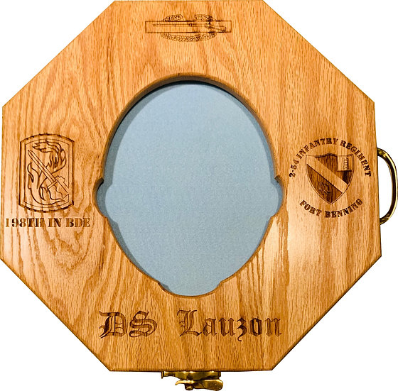 Drill SGT Hat Press-Solid OAK and Laser Engraved