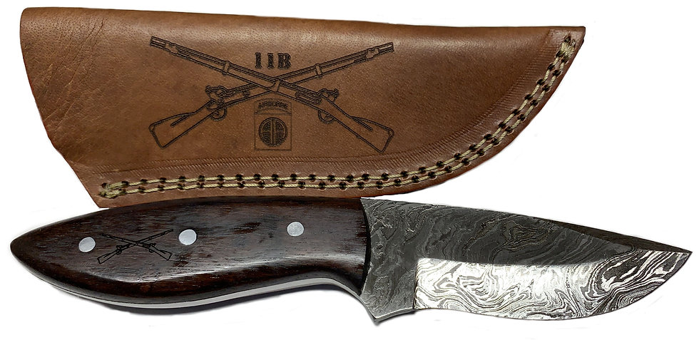 NIA Knife with Leather Cover