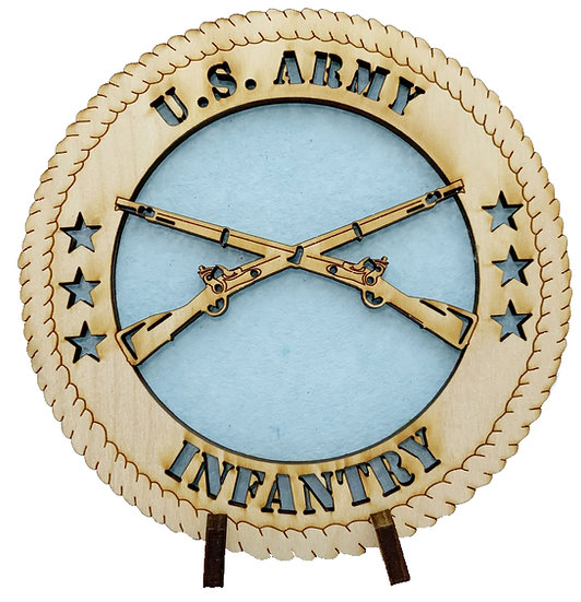 U.S. Army Infantry Tribute with stand