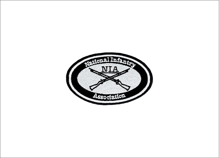 NIA Logo Black and White Patch