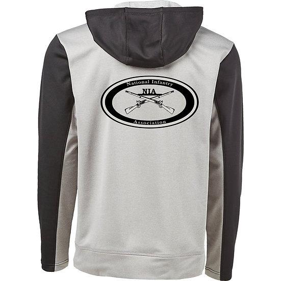 NIA Logo Hoodie, Heathered Grey and Black