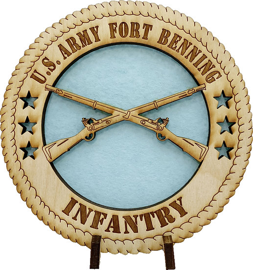 Fort Benning Infantry Tribute with stand