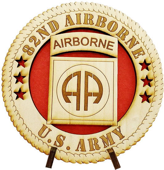 82nd Airborne Tribute with stand