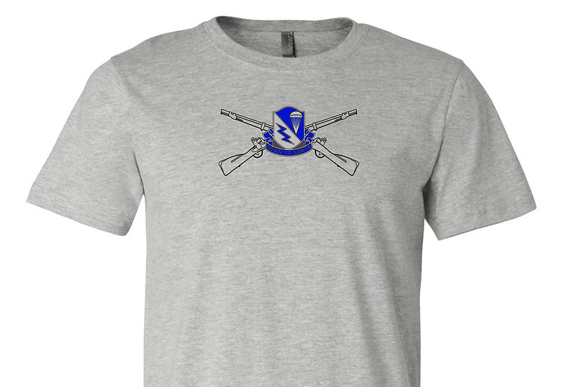 Infantry Rifles with 507th INF REG Bella + Canvas Soft; Light T-Shirt