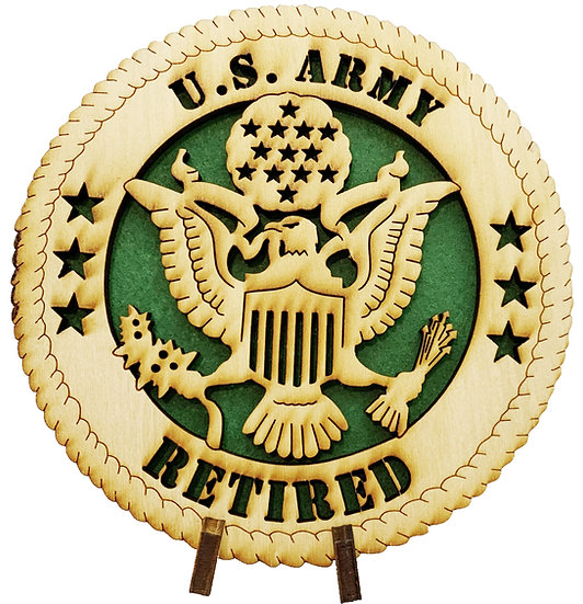 U.S. Army Retired Tribute with stand