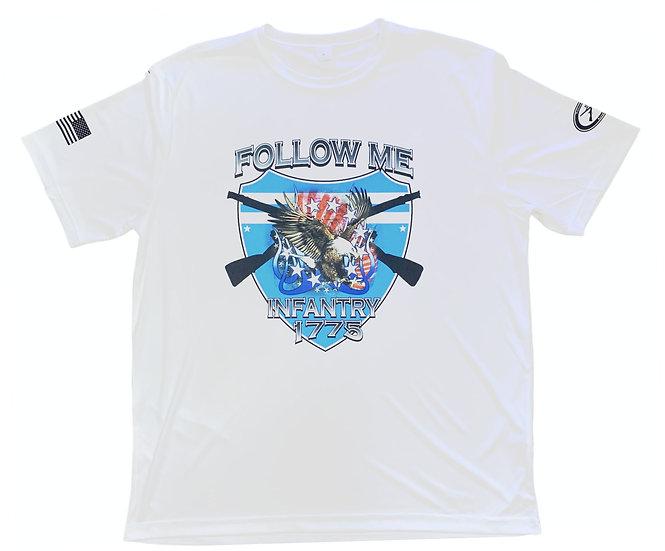 Follow Me front side of shirt Dri Fit Sport-Tek Posi Charge