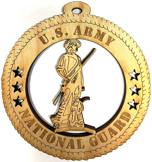 Army National Guard Wood Ornament