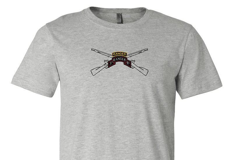 Infantry Rifles with 3rd Ranger BN Bella + Canvas Soft; Light T-Shirt