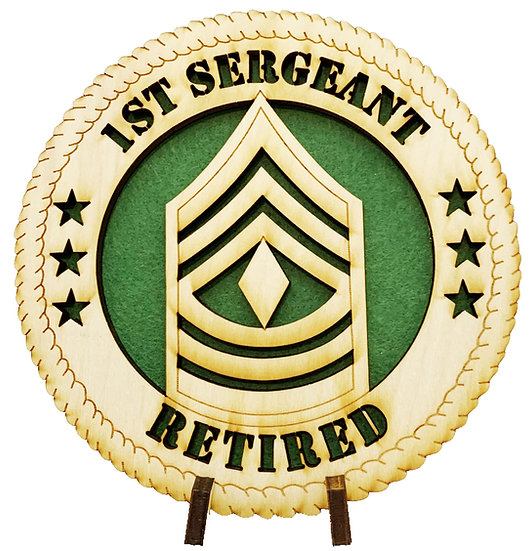 1SG Retired Tribute with stand