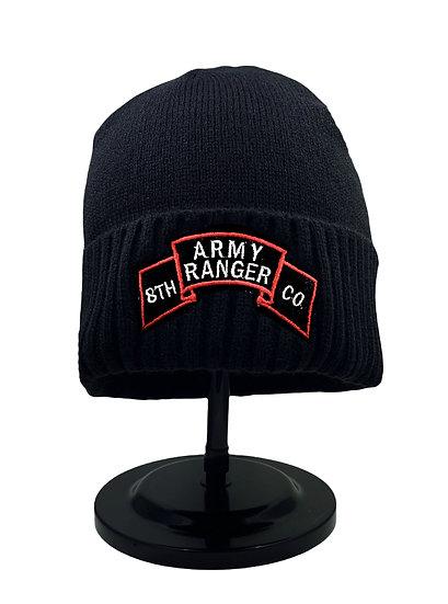 Army Ranger, 8th Co Black Beanie