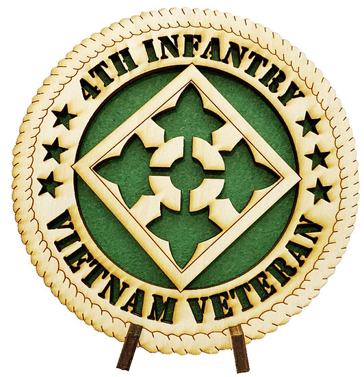 4th ID Vietnam Veteran Tribute with stand