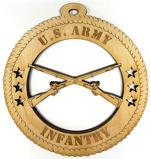 Army Infantry Rifles Wood Ornament