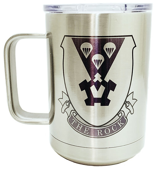The Rock Sublimatable Stainless Steel 15oz. White Vacuum Insulated