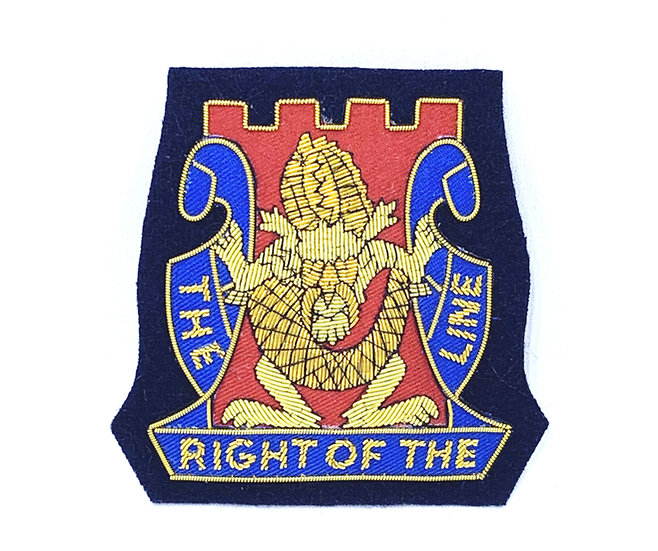 14th Regiment Embroidered  Unit Crest Patch with Pins