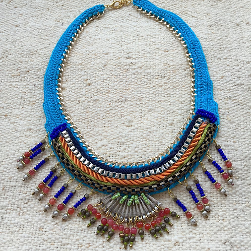 Handmade Wowen Necklace Turquoise