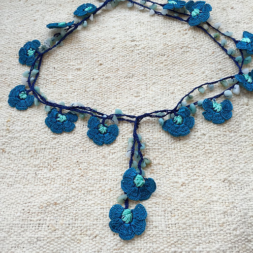 Handmade Necklace - Blue