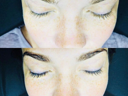 Before and After Brow and Lash Tint
