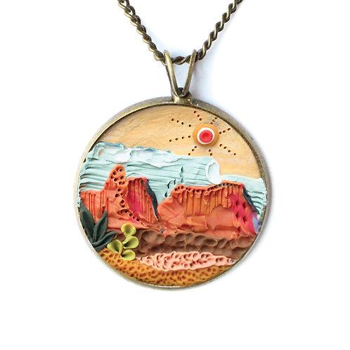 Orange Desert Necklace