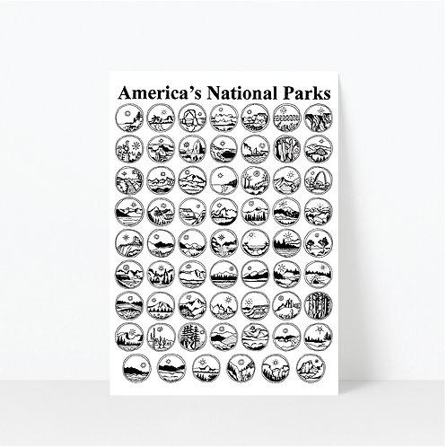 America's National Parks Sticker