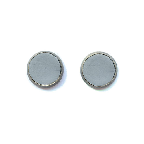 Gray Pebble Earrings