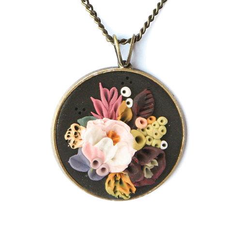 Peony + Amaranthus Necklace