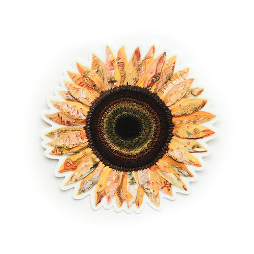 Little Mountain Sunflower Sticker