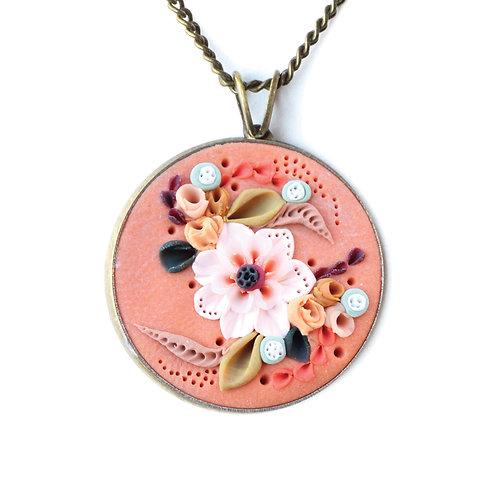 Peach Posy Necklace