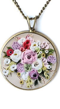 Custom Floral Bouquet Necklace