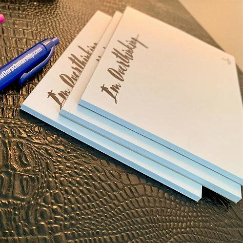'I'm Overthinking' Notepads