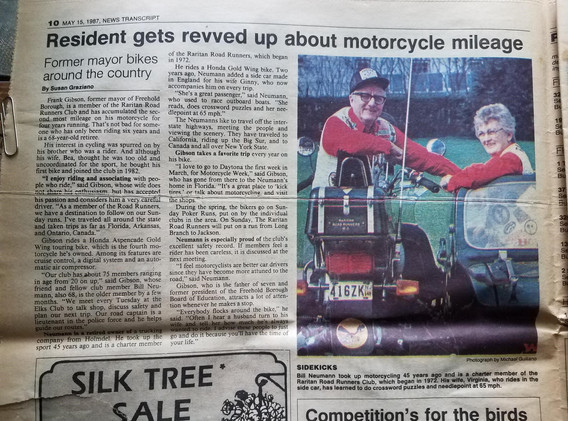 Newspaper Article - Frank Gibson 1987 (p