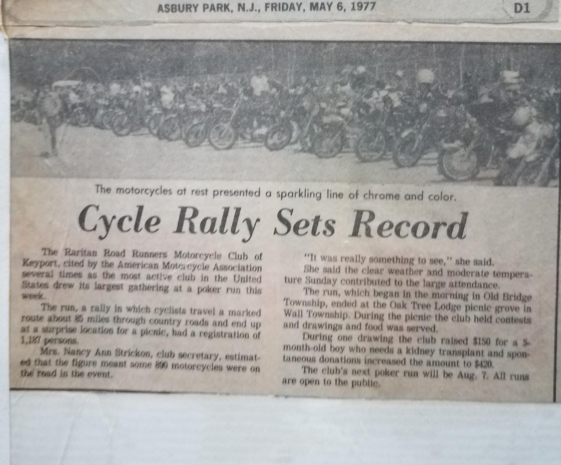 Newspaper Article - RRR Sets Record 1977