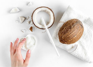 organic-cosmetics-with-coconut-on-white-