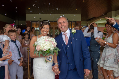 Confetti photo at Branston Pavilion