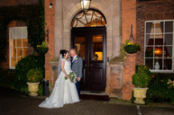 Beautifully lit wedding photo at Dovecliff Hall, Rolleston-on-Dove, Staffordshire