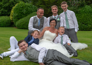 Fun family wedding photo idea at Newton House Barns, Derbyshire