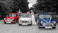 Part colour photograph - minis for wedding cars