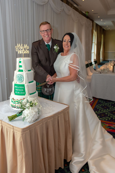 Celtic themed wedding cake