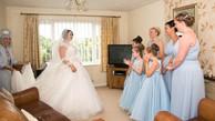 Bridesmaids reaction to the bride's entrance