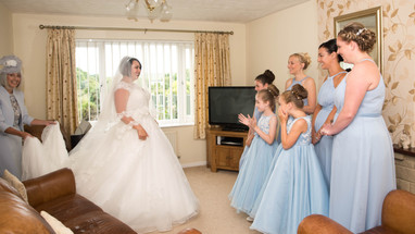 Bridesmaids reaction to the bride's entrance