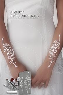 tatouage bijou de mariage blanc avec cristaux swarovsky - Tatouage Paillette Mariage