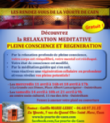 Cours collectifs et séances individuelles de relaxation, méditation, sophrologie, astrologie à la yourte de caen