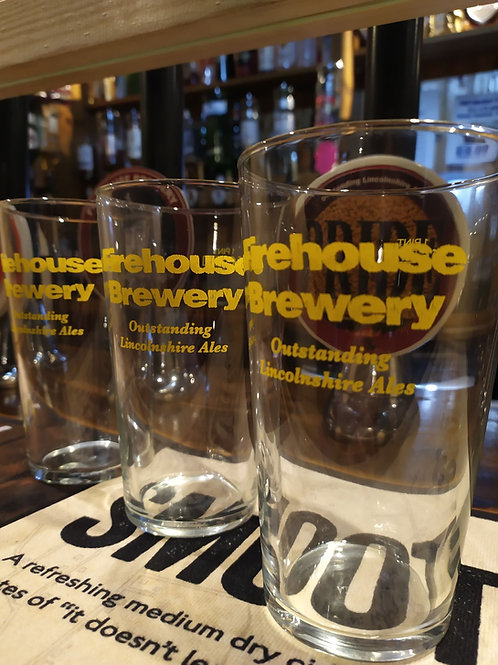 Firehouse Brewery Branded Pint Glass