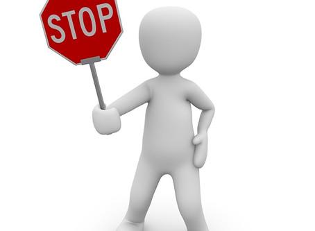 STOP ... bitte Abstand halten!