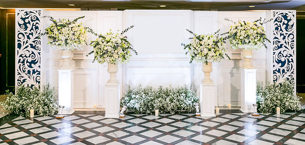 wedding backdrop and flower and wedding