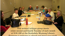 Scottsdale Mustang Library  Writers Group meets on the second and fourth Tuesdays