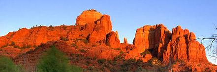 Arizona desert bluff