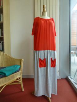 Robe bi-matière
