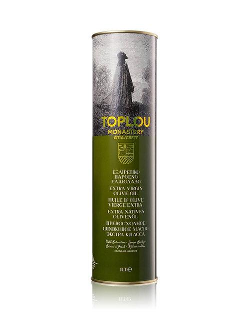 """Масло оливковое E.V.Монастырское  """"TOPLOU"""", 1л, жесть."""