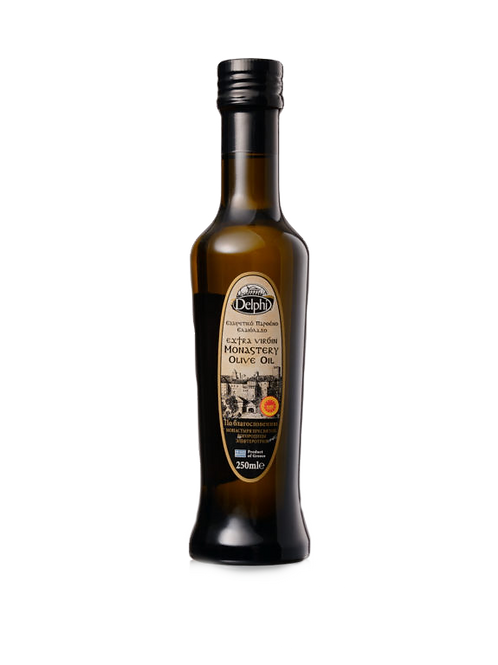 """Масло оливковое E.V. Монастырское  """"DELPHI"""", 0,25л, стекло."""