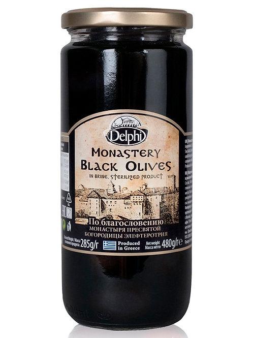"""Маслины с косточкой в рассоле Монастырские  """"DELPHI"""", 480г, стекло."""